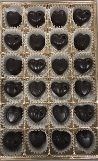 Salted Caramel Dark Chocolate Hearts